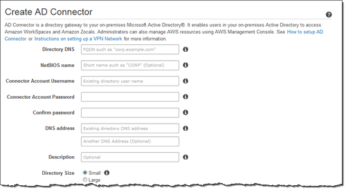 Create AD Connector