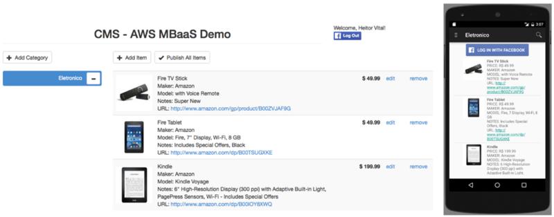 Amazon web services blog espaol figura 2 pantallas principales de la tienda web y aplicacin android ccuart Gallery