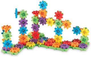 ラーニング リソーシズ(Learning Resources) カラフルギアブロック デラックスセット 100ピース おもちゃ 歯車 LER9162 正規品